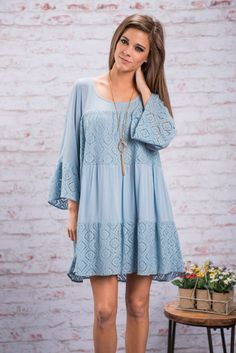 Floating On Air Dress, Serenity || You will love this dress so much it will feel like you are floating on air! It also helps that it's fit is so loose and flowy! It's basically a dream dress!