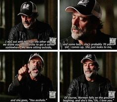 Jeffrey dean Morgan, Norman Reedus motorcycles to coffee