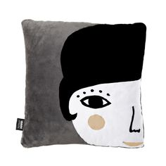"""Square cushion with Lola design. The collection Back to Nest is designed in warm and soft fabrics. What makes this collection unique is that their fabrics were recovered from old footwear factories. Mix it with other cushions of this collection.  Cover: Pile fabric and polar fleece cover Size: 40x40 cm (15.6x15.6"""") Filling: Polyester Unremovable cover Grey back Designed and crafted in Spain with care by Paparajote Factory."""