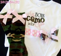 Silly boys Camo is for girls Glitter sparkle bling onesie