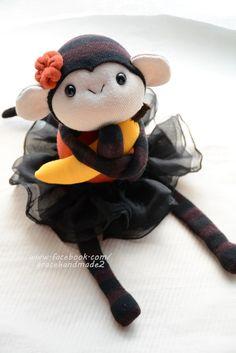 Grace--#332 sock monkey