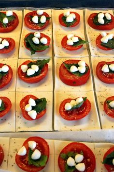Tomato Squares as Finger-food