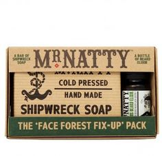 """Natty Shipwreck Soap """"Scrubs Up Proper"""" Pack Christmas Gifts For Men, Holiday Gifts, Shipwreck, Last Minute Gifts, Holiday Gift Guide, Stocking Stuffers, Best Gifts, Packing, Soap"""