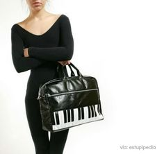 Here is a similar bag in style (leather, black, classy), but just a different location on the piano keys #fashion #music