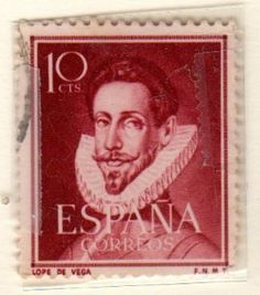 postage stamps from spain | Amazon.com: Postage Stamps Spain. One Single 10c Deep Rose Brown Lope ..