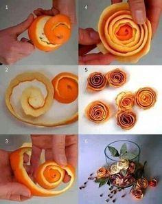 Orange peel rose