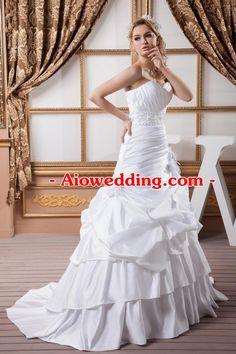 GEORGE BRIDE New Sweetheart A-Line Taffeta Wedding Dress