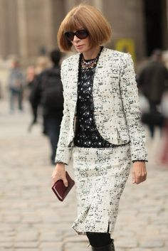 The Best Street Style From Paris Fashion Week | Spring 2013 Photo 22 - Anna Wintour