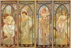 I love art nouveau and i love this alphonse mucha. Have one of these hanging at home.