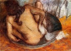 Nude in a Tub  Edgar Degas