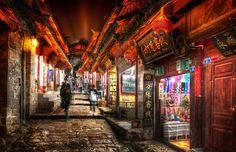 Lijiang, China, at night, really late night. Stuck in Customs