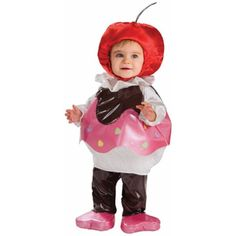 Your little sweetheart will look amazing in this cupcake costume. The bright and exciting design of this costume is perfect for your child's first Halloween. The adorable headpiece looks just like a c