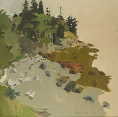 """""""The Edge in the Morning,"""" Fairfield Porter, oil on canvas, 36 x Hirshhorn Museum and Sculpture Garden. Fairfield Porter, Hirshhorn Museum, Paintings I Love, Oil Paintings, Modern Paintings, Small Paintings, Acrylic Paintings, Impressionist Art, Impressionism"""