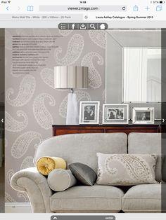 Laura Ashley emperor Paisley dove grey wallpaper <3