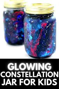 If your kids love gazing at the night sky or dream of leaping on the moon, they're going to quickly fall head over heels with this fun and exciting DIY Constellation Jar Craft (that GLOWS in the dark!) Get the full tutorial at MomDot.com! Mason Jar Crafts, Mason Jar Diy, Constellation Jar, Science Projects For Kids, Painted Mason Jars, Constellations, Cool Kids, Craft Supplies, Birthday Gifts