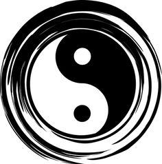 illustrations of yin yang, harmony, balance, silhouette Yin Yang Tattoos, Tatuajes Yin Yang, Up Tattoos, Ying Yang, Yin Yang Art, Public Domain, Tao, Foto Logo, Karma Tattoo