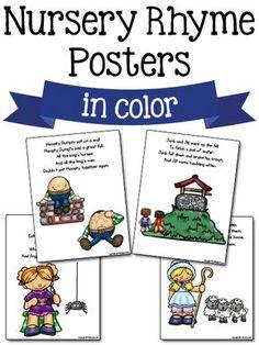 Nursery Rhymes Kindergarten, Free Nursery Rhymes, Rhyming Kindergarten, Nursery Rhyme Crafts, Nursery Rhyme Theme, Rhyming Activities, Kindergarten Themes, Preschool Songs, Preschool Printables