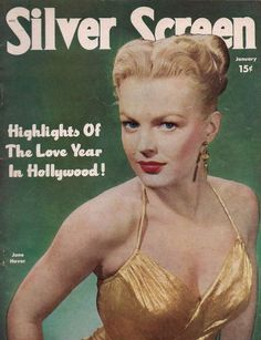 """June Haver on the cover of """"Silver Screen"""" magazine, USA, January 1951."""