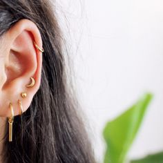 ANNA+NINA Ingot Medium earring & stars, studs & hoops Elina Rosina