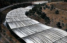 Over the River, current proposed work since 2009. Christo  plans to cover 42 miles of the Arkansas River with luminous  fabric for two weeks during the summer of 2014.