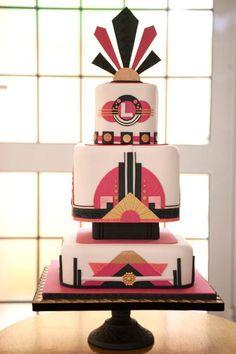 Cake Design Made Simple: Art Deco, a Craftsy Cake Decorating Class Cake Decorating Classes, Cake Decorating Techniques, Decorating Ideas, Art Deco Cake, Cake Art, Art Deco Wedding, Wedding Cake Designs, Gatsby, Art Nouveau
