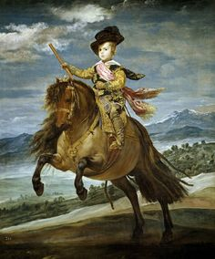 Diego Velázquez (1599-1660) Prince Baltasar Carlos on Horseback  1635-1636. Oil on canvas. 209 x 173 cm. Museo Nacional del Prado, Madrid. P01180.