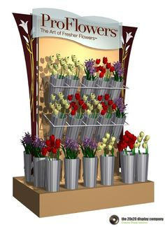 Sales and Branding Kiosks - The Display Company Flower Shop Decor, Flower Shop Design, Flower Shops, Flower Truck, Flower Bar, Cactus Flower, Flower Shop Interiors, Ranunculus Flowers, Kiosk Design