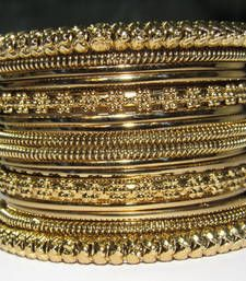 Buy Antic Copper Color  16 Bangles set bangles-and-bracelet online