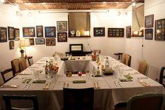 Corporate dinner set-up