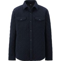 MEN MICRO FLEECE QUILTING LONG SLEEVE SHIRT