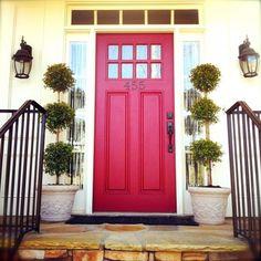 Red-Door front door color ideas