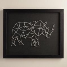 One of my favorite discoveries at WorldMarket.com: Geo Rhino String Wall Art by Christine Tong