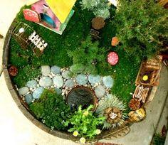 Love this idea... a fairy garden