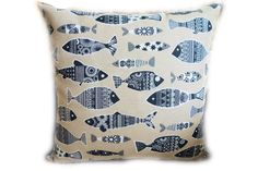 Excited to share this item from my shop: Handmade Decorative Feature Cushion / Throw Pillow, Scandinavian Fish design Wooden Wine Boxes, Wooden Jewelry Boxes, Jewellery Boxes, Throw Pillow Covers, Throw Pillows, Postage Stamp Design, Applique Cushions, Pillow Room, Beige Background