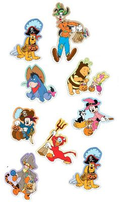 DISNEY FREE PRINTABLE CUPCAKE TOPPERS. Let Mickey, Minnie, Winnie the Pooh, Tigger, and many more magical Disney characters bring a little sweetness to your frightful Halloween with these Halloween cupcake toppers.