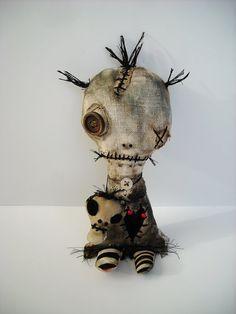 Handmade Art Doll Voodoo Patout by JunkerJane on Etsy