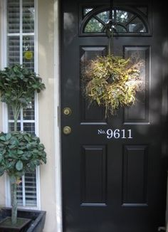Love the house numbers on the front door.  This door leads to one of my favorite places.
