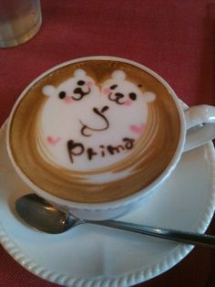 Cappuccino at my favorite local coffee bar, Primavera. Iwakuni, Japan