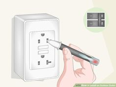 How to Install an Outdoor Outlet (with Pictures) - wikiHow Outdoor Outlet, Local Hardware Store, Electrical Wiring, Home Improvement, Neutral, Pictures, Photos, Home Improvements, Grimm
