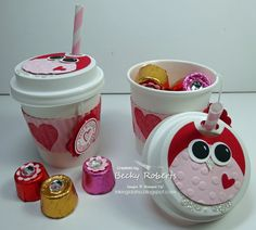 More mini paper coffee cup ideas ~ Too stinkin' cute ♥
