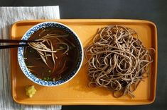In Japan, where it gets plenty hot in the summer, cold soba noodles, served with a dipping sauce, are a common snack or light meal Soba are brown noodles, made from wheat and buckwheat, and the sauce is based on dashi, the omnipresent Japanese stock You would recognize the smell of dashi in an instant, even if you have never knowingly eaten it