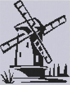 Dutch Windmill Cross Stitch Pattern  | Craftsy