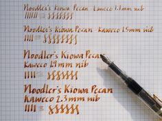 Kaweco Calligraphy Nibs 1.1, 1.5, 1.9, 2.3 Writing Sample at Wonder Pens, wonderpens.ca