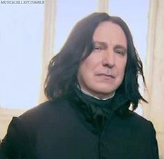 Alan Rickman Snape <3 I find it So hard to believe that Alan played snape Snape is my favorite character overall.GO ALAN RICKMAN