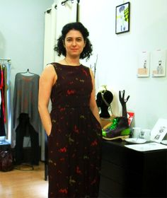 Olalla Rapaza Ela Diz, dress by Nice Things