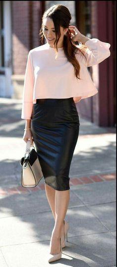 08e2063cb1 73 mejores imágenes de Outfit Falda Lápiz   Tube Skirt Outfit ...