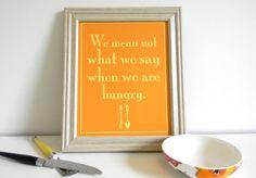 Funny Kitchen Art Print 8 x 10 by SmartyPantsStudio on Etsy, $12.00