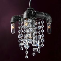 industrial chandelier by Michael McHale Designs