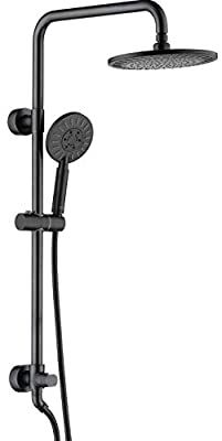 Shower Heads System Including Rain Fall Shower Head And Handheld Shower Head With Height Adjusta In 2020 Adjustable Shower Head Handheld Shower Head Bronze Shower Head