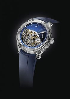 High-end and exclusive luxury watchmaker Greubel Forsey launches its Double Balancier Sapphire timepiece, exclusively for its North American market. Dream Watches, Luxury Watches, Cool Watches, Rolex Watches, Watches For Men, Wrist Watches, Watch 2, Sapphire, Clock
